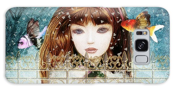 Aniolina Felicslawa Galaxy Case by Barbara Orenya
