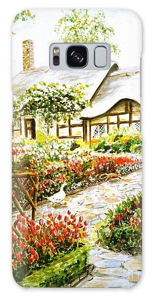 Anne Hathaway's Cottage At Stratford Upon Avon Galaxy Case by Dee Davis
