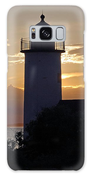 Annisquam Lighthouse Sunset Galaxy Case by Richard Bryce and Family