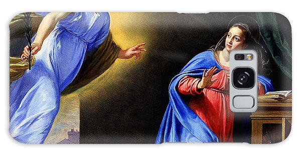 Annunciation Galaxy Case by Philippe de Champaigne