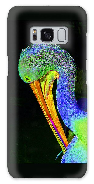 Another Pelican Partygoer Galaxy Case by Margaret Saheed