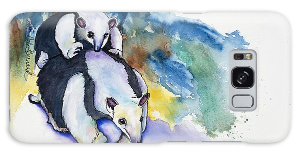 Anteater With Baby Galaxy Case