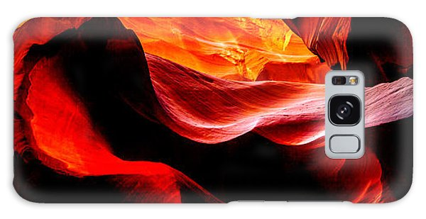 Famous Artist Galaxy Case - Antelope Canyon Rock Wave by Az Jackson