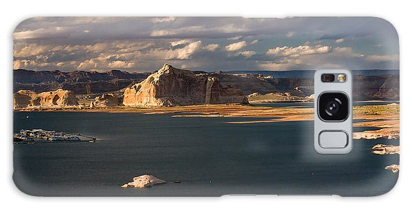 Antelope Island At Sunset Galaxy Case