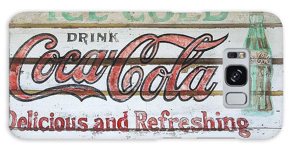 Antique Coca Cola Sign  Galaxy Case
