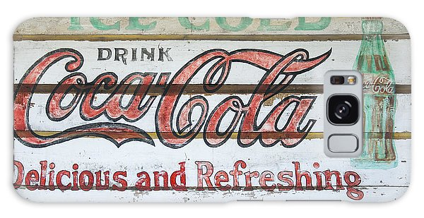 Antique Coca Cola Sign  Galaxy Case