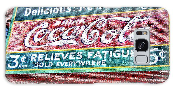 Antique Coke Sign Galaxy Case