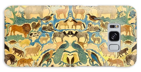 Antique Cutout Of Animals  Galaxy Case
