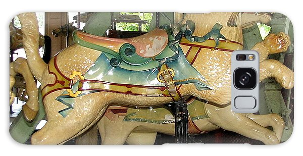 Galaxy Case featuring the photograph Antique Dentzel Menagerie Carousel Cat by Rose Santuci-Sofranko
