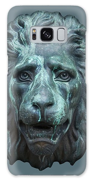 Antique Lion Face In Blue Galaxy Case by Jane McIlroy