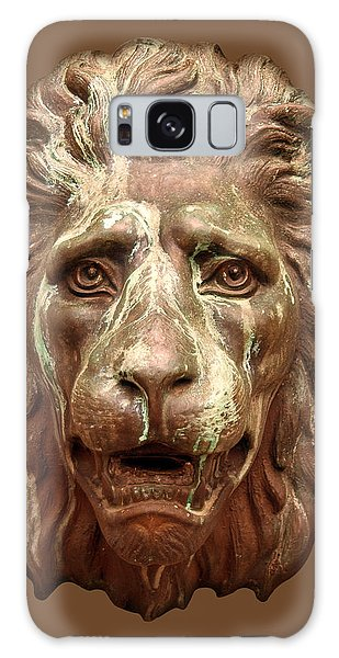 Antique Lion Face In Brown Galaxy Case