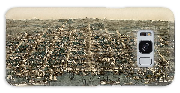 Vintage Galaxy Case - Antique Map Of Alexandria Virginia By Charles Magnus - 1863 by Blue Monocle