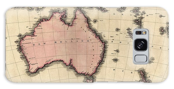 Antique Map Of Australia And The Pacific Islands By John Pinkerton - 1818 Galaxy Case