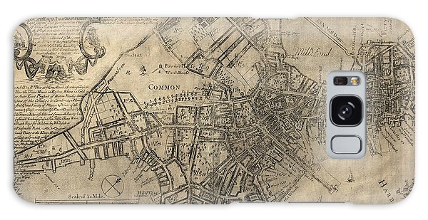 Antique Map Of Boston By William Price - 1769 Galaxy Case by Blue Monocle
