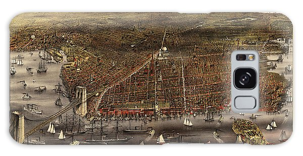 Antique Map Of Brooklyn By Currier And Ives - Circa 1879 Galaxy S8 Case