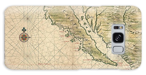Mexican Galaxy Case - Antique Map Of California As An Island By Joan Vinckeboons - 1650 by Blue Monocle