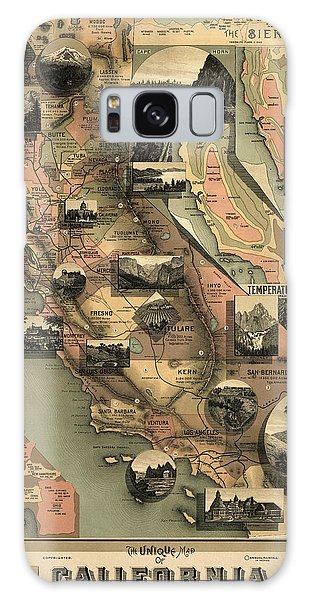 Vintage Galaxy Case - Antique Map Of California By E. Mcd. Johnstone - 1888 by Blue Monocle
