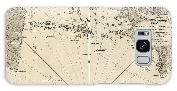 Bay Galaxy Case - Antique Map Of Casco Bay And Portland Maine By Cyprian Southack - 1779 by Blue Monocle