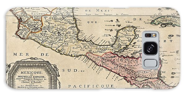 Mexican Galaxy Case - Antique Map Of Central America By Nicolas Sanson - 1656 by Blue Monocle