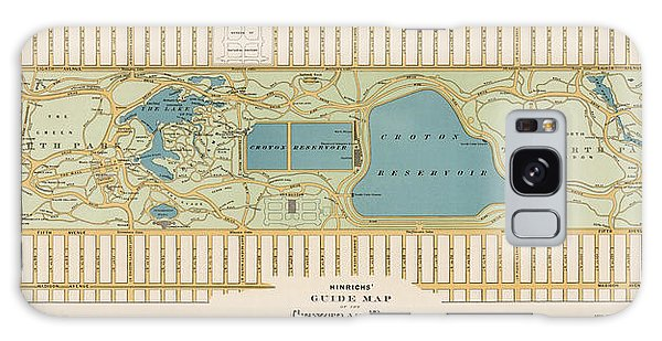 Antique Map Of Central Park New York City By Oscar Hinrichs - 1875 Galaxy Case