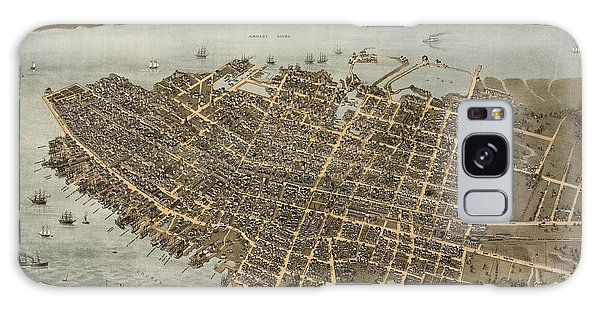 Antique Map Of Charleston South Carolina By C. N. Drie - 1872 Galaxy Case by Blue Monocle