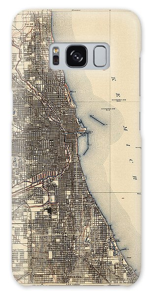 Antique Map Of Chicago - Usgs Topographic Map - 1901 Galaxy Case by Blue Monocle