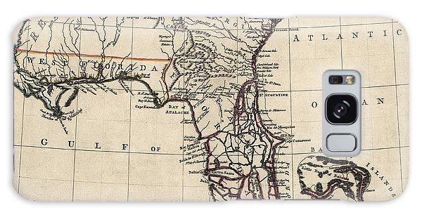 Vintage Galaxy Case - Antique Map Of Florida And The Southeast By Thomas Jefferys - 1768 by Blue Monocle