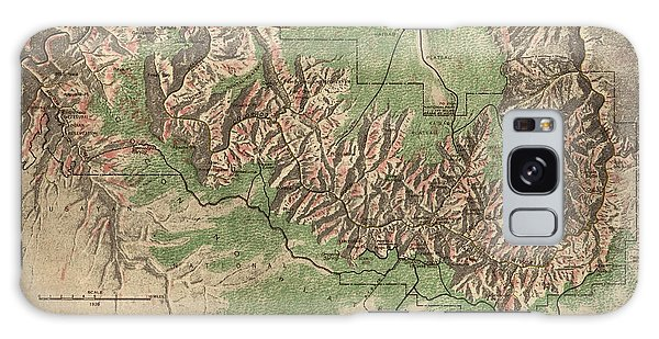 Antique Map Of Grand Canyon National Park By The National Park Service - 1926 Galaxy S8 Case