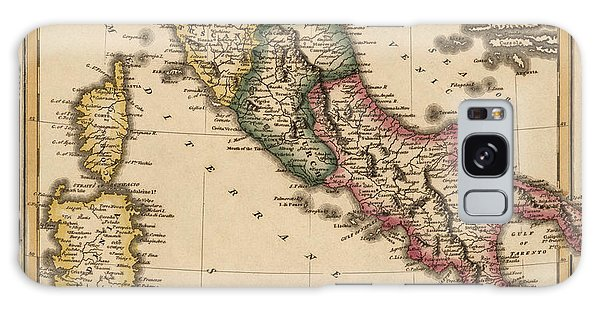 Antique Map Of Italy By Fielding Lucas - Circa 1817 Galaxy Case by Blue Monocle