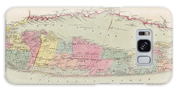 Antique Map Of Long Island By J.h. Colton And Co. - 1857 Galaxy Case by Blue Monocle