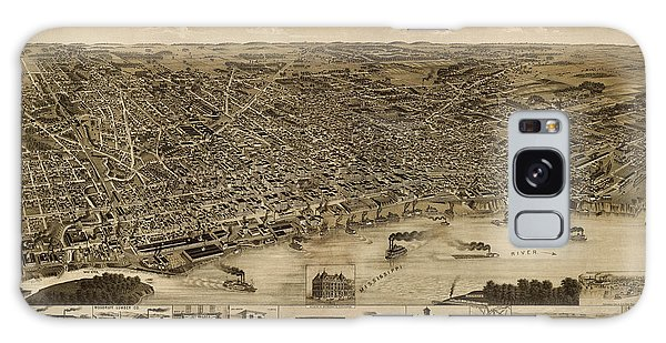 Antique Map Of Memphis Tennessee By H. Wellge - 1887 Galaxy Case by Blue Monocle