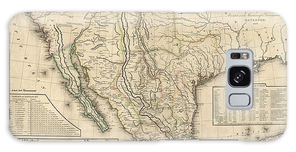 Mexican Galaxy Case - Antique Map Of Mexico By Henry Schenck Tanner - 1826 by Blue Monocle