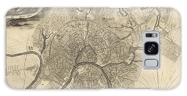 Antique Map Of Moscow Russia By Ivan Fedorovich Michurin - 1745 Galaxy S8 Case