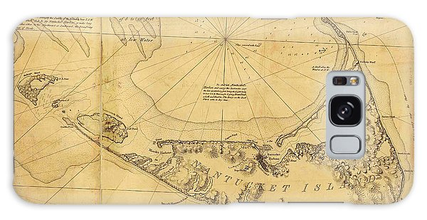 Antique Map Of Nantucket Galaxy Case