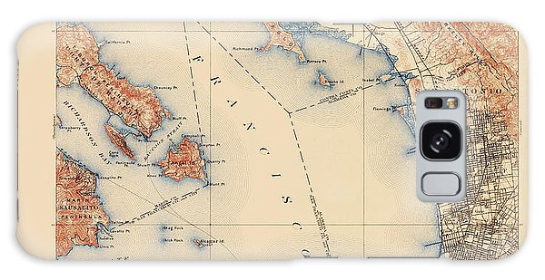 Bay Galaxy Case - Antique Map Of San Francisco And The Bay Area - Usgs Topographic Map - 1899 by Blue Monocle
