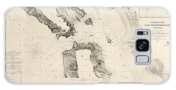 Bay Galaxy Case - Antique Map Of San Francisco - Usgs Coast Survey Map - 1859 by Blue Monocle