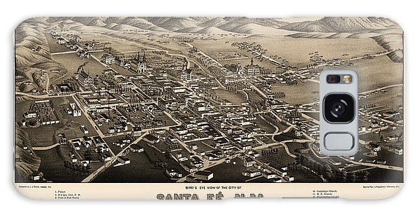 Mexican Galaxy Case - Antique Map Of Santa Fe New Mexico By H. Wellge - 1882 by Blue Monocle