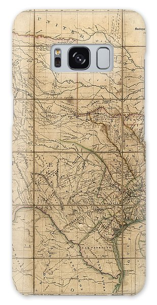 Antique Map Of Texas By John Arrowsmith - 1841 Galaxy Case by Blue Monocle
