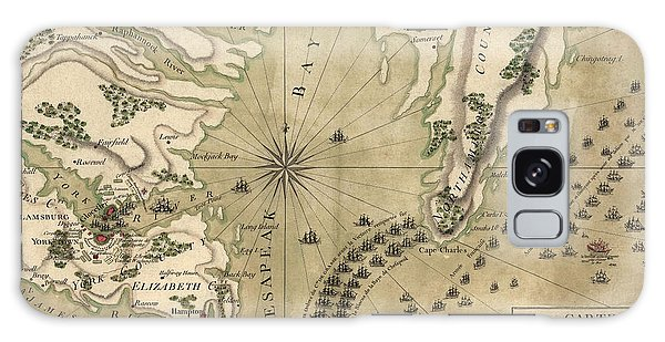 Bay Galaxy Case - Antique Map Of The Battle Of Yorktown Virginia By Esnauts Et Rapilly - Circa 1781 by Blue Monocle