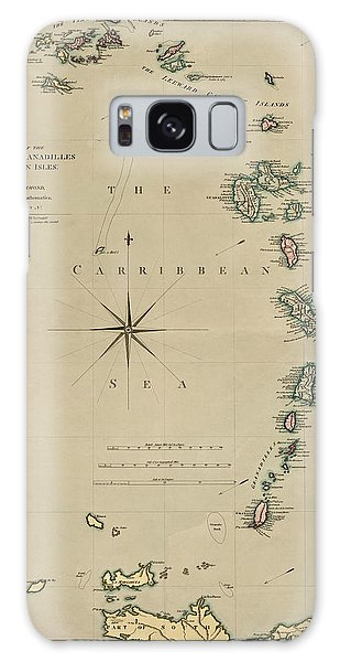 Antique Map Of The Caribbean - Lesser Antilles - By Mathew Richmond - 1789 Galaxy Case by Blue Monocle