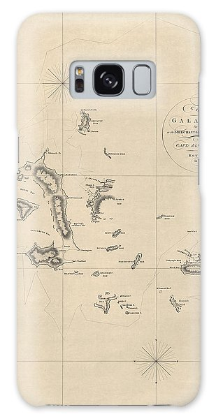 Antique Map Of The Galapagos Islands By James Colnett - 1798 Galaxy Case