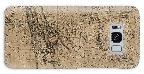 Antique Map Of The Lewis And Clark Expedition By Samuel Lewis - 1814 Galaxy Case by Blue Monocle