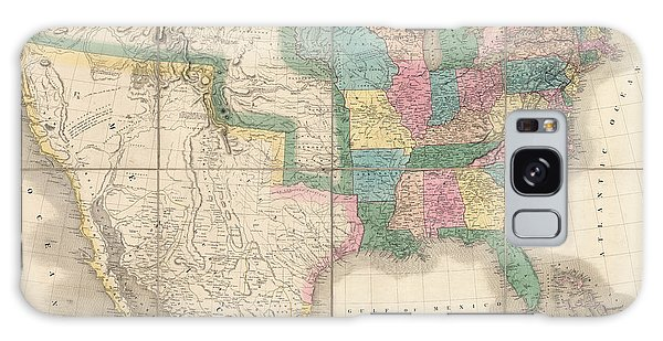 Mexican Galaxy Case - Antique Map Of The United States By David Burr - 1839 by Blue Monocle