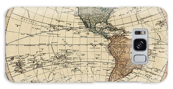 Vintage Galaxy Case - Antique Map Of The Western Hemisphere By William Faden - 1786 by Blue Monocle