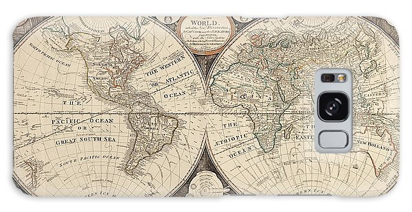 Antique Map Of The World By Thomas Kitchen - 1799 Galaxy Case