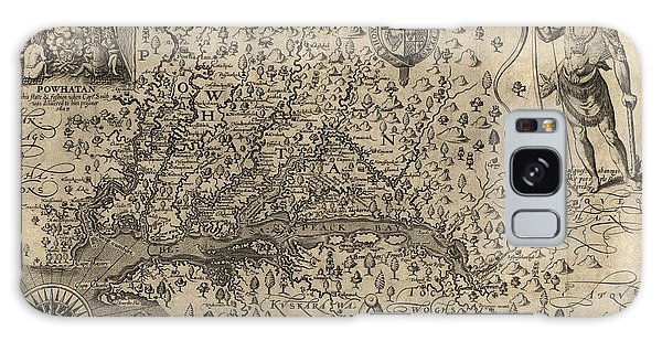 Bay Galaxy Case - Antique Map Of Virginia And Maryland By John Smith - 1624 by Blue Monocle