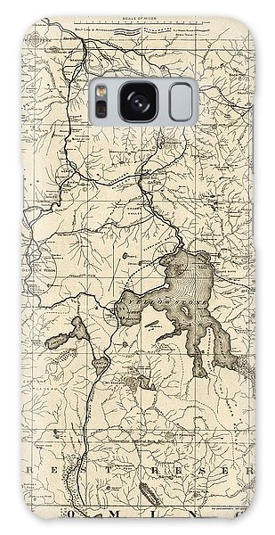 Vintage Galaxy Case - Antique Map Of Yellowstone National Park By The U. S. War Department - 1900 by Blue Monocle