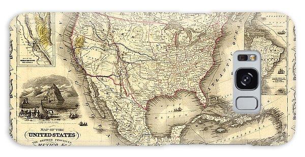 Antique North America Map Galaxy Case
