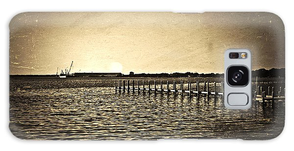 Antique Photo Of Pier  Galaxy Case