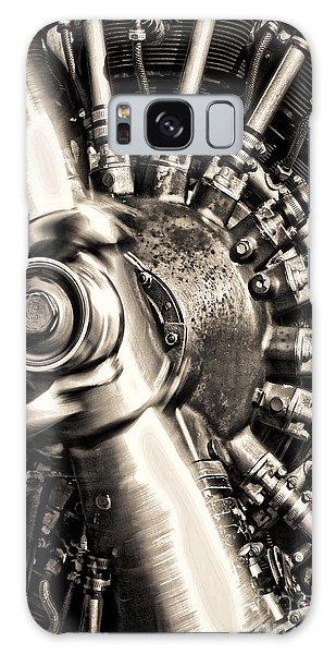 Antique Plane Engine Galaxy Case